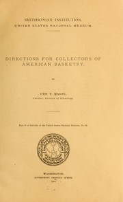 Cover of: Directions for collectors of American basketry