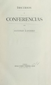 Cover of: Discursos e conferencias