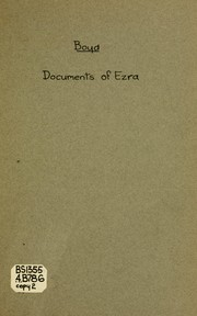 Cover of: The documents of the book of Ezra