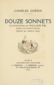 Cover of: Douze sonnets