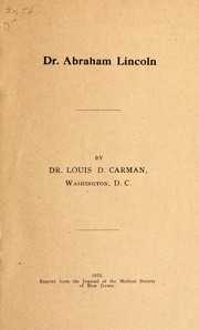 Cover of: Dr. Abraham Lincoln