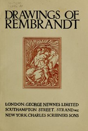 Cover of: Drawings of Rembrandt