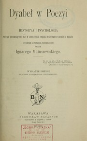 Cover of: Dyabeł w poezyi