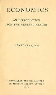 Cover of: Economics | Henry Clay