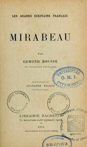 Cover of: Mirabeau