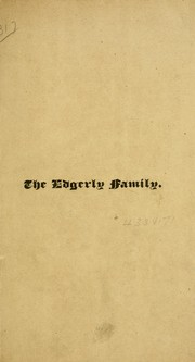 Cover of: The Edgerly family | James A. Edgerly
