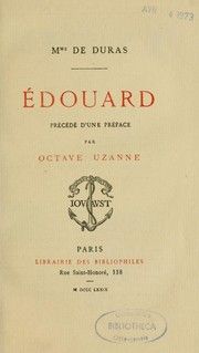 Cover of: Edouard