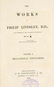 Cover of: Educational discourses | Lindsley, Philip
