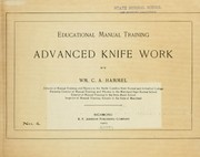 Cover of: Educational manual training ... | William Charles Adam Hammel