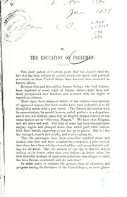 Cover of: The education of freedmen