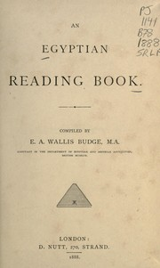 Cover of: An Egyptian reading book