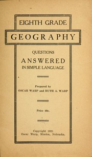 Cover of: Eighth grade geography questions answered in simple language