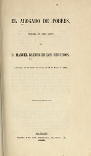 Cover of: El abogado de pobres