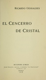 Cover of: El cencerro de cristal