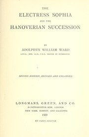 Cover of: The electress Sophia and Hanoverian succession