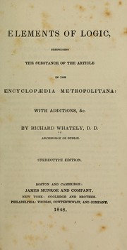 Cover of: Elements of logic