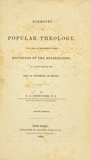 Cover of: Elements of popular theology