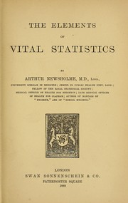 Cover of: The elements of vital statistics
