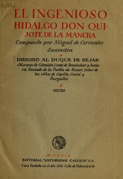 Cover of: El ingenioso hidalgo Don Quijote de la Mancha