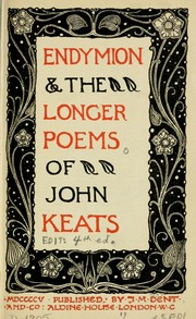 Cover of: Endymion & the longer poems