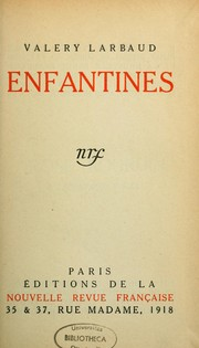 Cover of: Enfantines. --