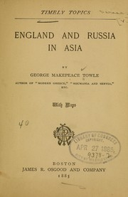 Cover of: England and Russia in Asia