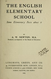 Cover of: The English elementary school
