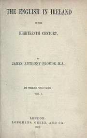 Cover of: The English in Ireland in the eighteenth century