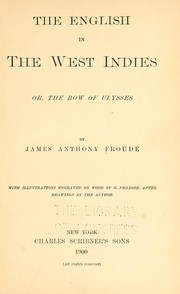 Cover of: The English in the West Indies