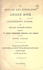 Cover of: An English and Singhalese lesson book on Ollendorff's system