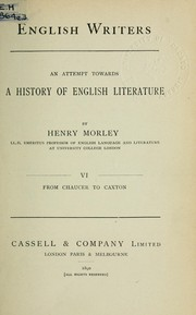 Cover of: English writers
