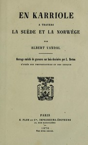 Cover of: En karriole a travers la suede et la norwege