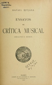 Cover of: Ensayos de crítica musical.  2. ser