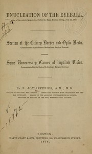 Cover of: Enucleation of the eyeball. | B. Joy Jeffries