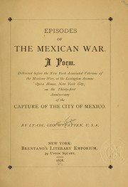 Cover of: Episodes of the Mexican war