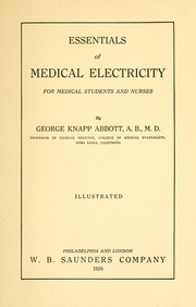 Cover of: Essentials of medical electricity for medical students and nurses