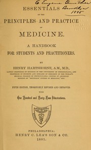 Cover of: Essentials of the principles and practice of medicine