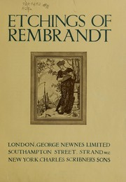 Cover of: Etchings of Rembrandt
