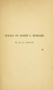 Cover of: Eulogy on Joseph S. Hubbard