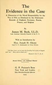 Cover of: The evidence in the case