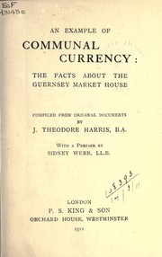 An example of communal currency by Joseph Theodore Harris