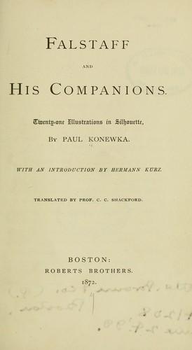 Falstaff and his companions.