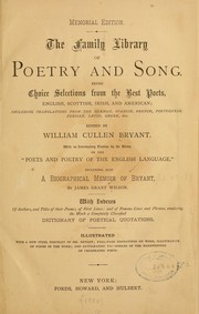 Cover of: The family library of poetry and song