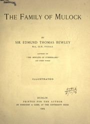 Cover of: The family of Mulock | Bewley, Edmund Thomas (Sir)
