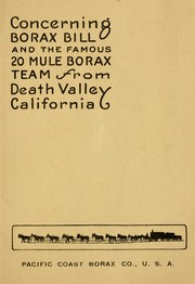 The famous twenty mule borax team from Death Valley California by