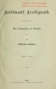 Cover of: Ferdinand Freiligrath