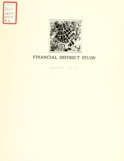 Cover of: Financial district study