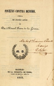 Cover of: Finezas contra desvíos