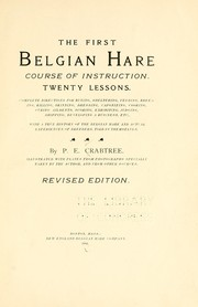 Cover of: The first Belgian hare course of instruction. | Pleasant Elijah Crabtree
