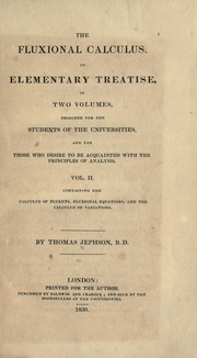 Cover of: The fluxional calculus | Thomas Jephson